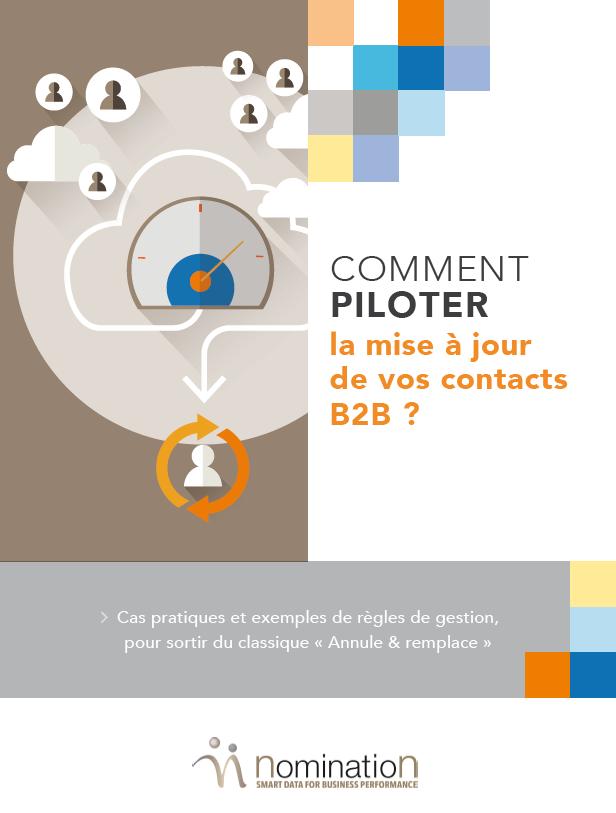 Couverture du Livre Blanc Comment piloter la mise à jour de vos contacts B2B ?