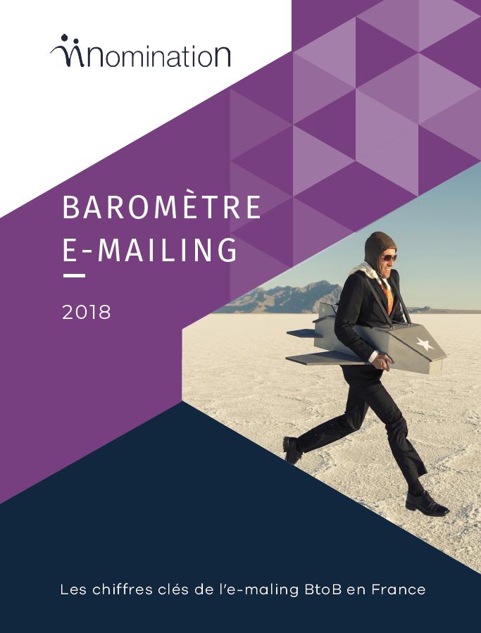 Couverture du Livre Blanc Baromètre e-mailing 2018