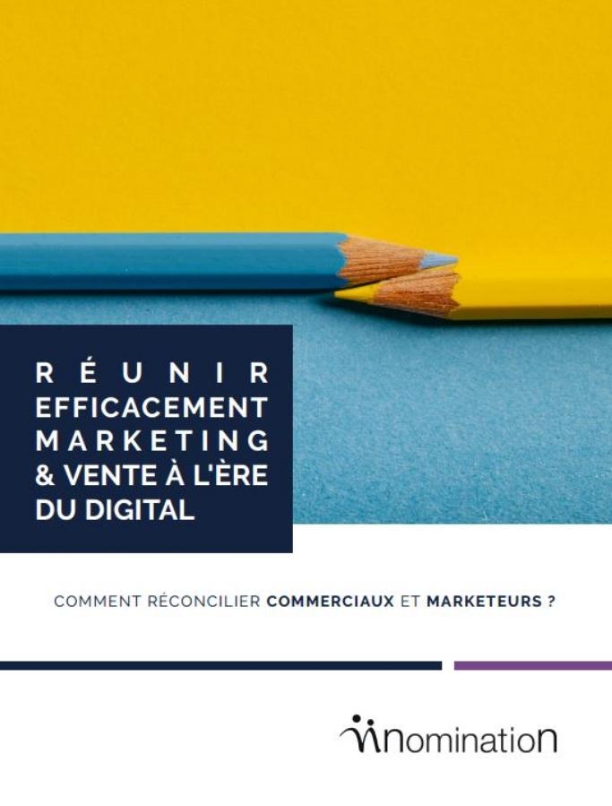 Couverture du Livre Blanc Réunir efficacement marketing & vente à l'ère du digital