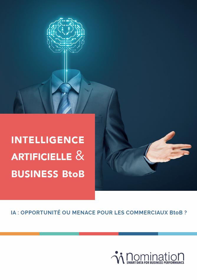 Couverture du Livre Blanc IA : opportunité ou menace pour les commerciaux B2B