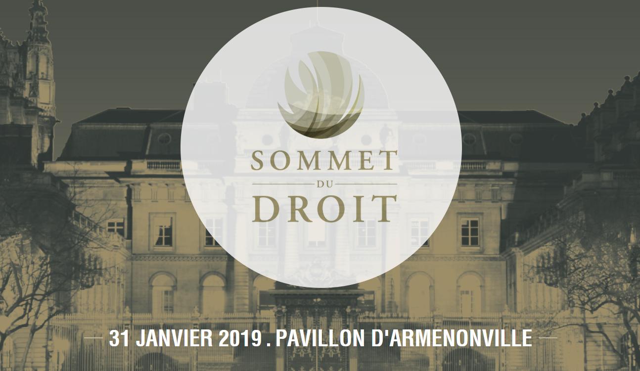Évènement Sommet du Droit – 31/01 Nomination