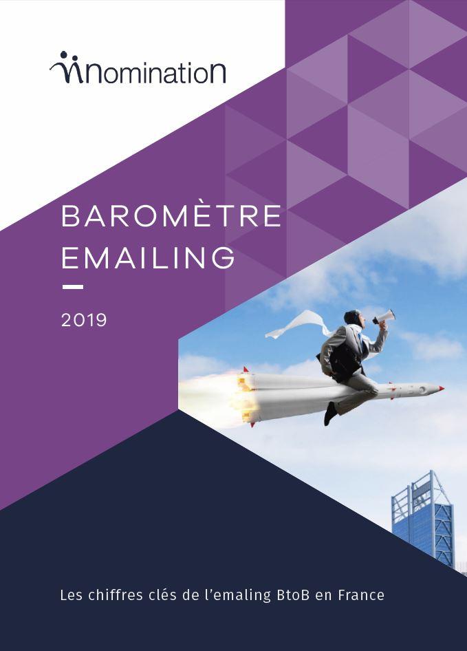 Couverture du Livre Blanc Baromètre emailing 2019