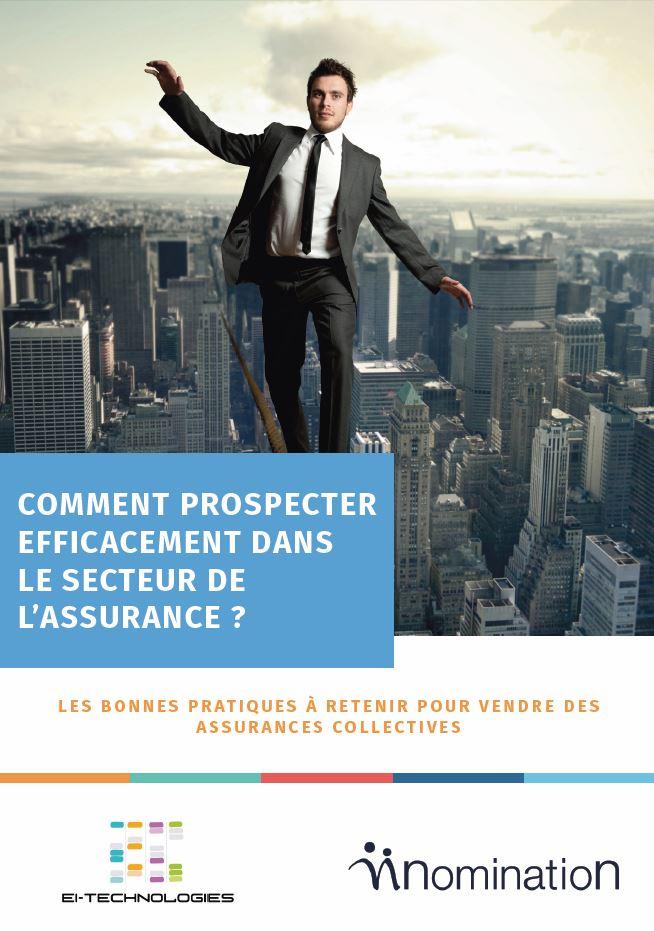 Couverture du Livre Blanc Comment prospecter efficacement dans le secteur de l'assurance ?