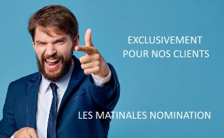 Évènement Les Matinales Nomination Nomination