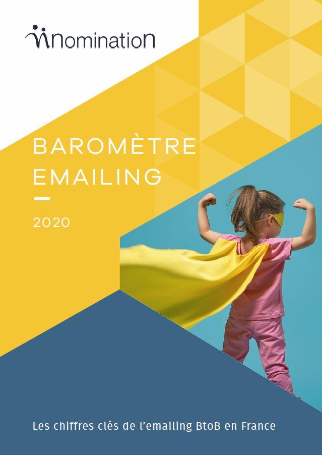 Couverture du Livre Blanc Baromètre emailing BtoB 2020