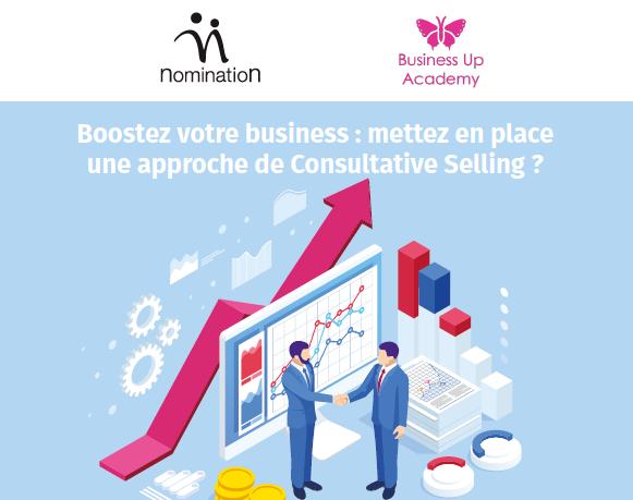 Couverture du Livre Blanc Boostez votre business: mettez en place une approche de Consultative Selling