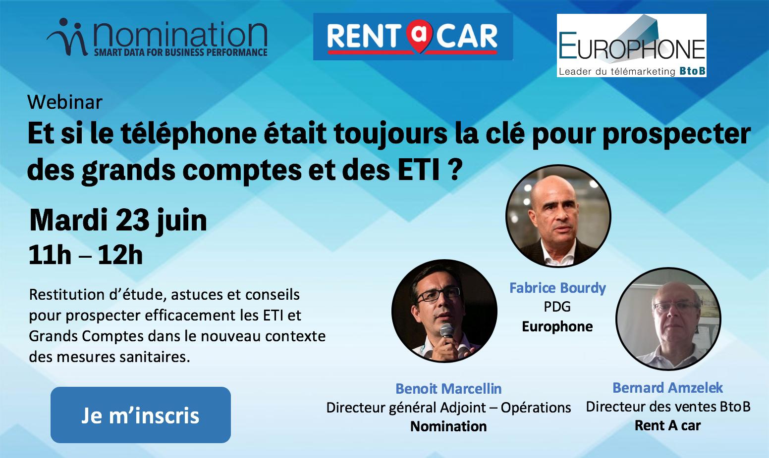Évènement Webinar – Et si le téléphone était toujours la clé pour prospecter des grands comptes et des ETI ? Nomination