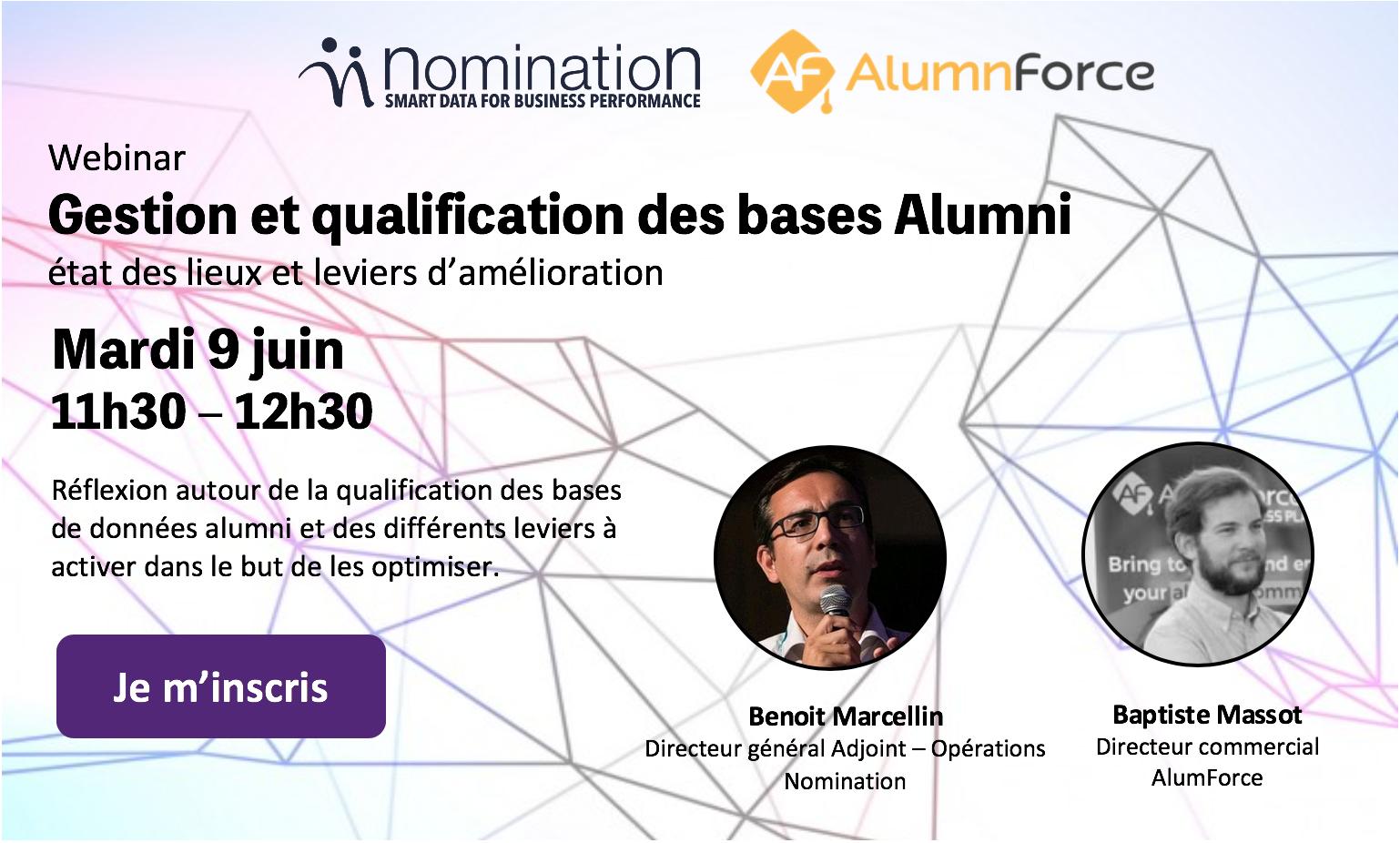 Évènement Webinar – Gestion et qualification des bases Alumni Nomination