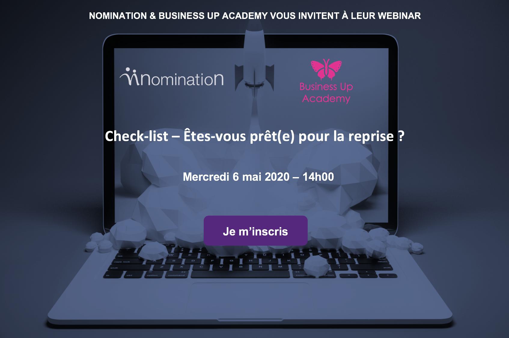 Évènement Webinar – Check-list – Êtes-vous prêt(e) pour la reprise ? Nomination