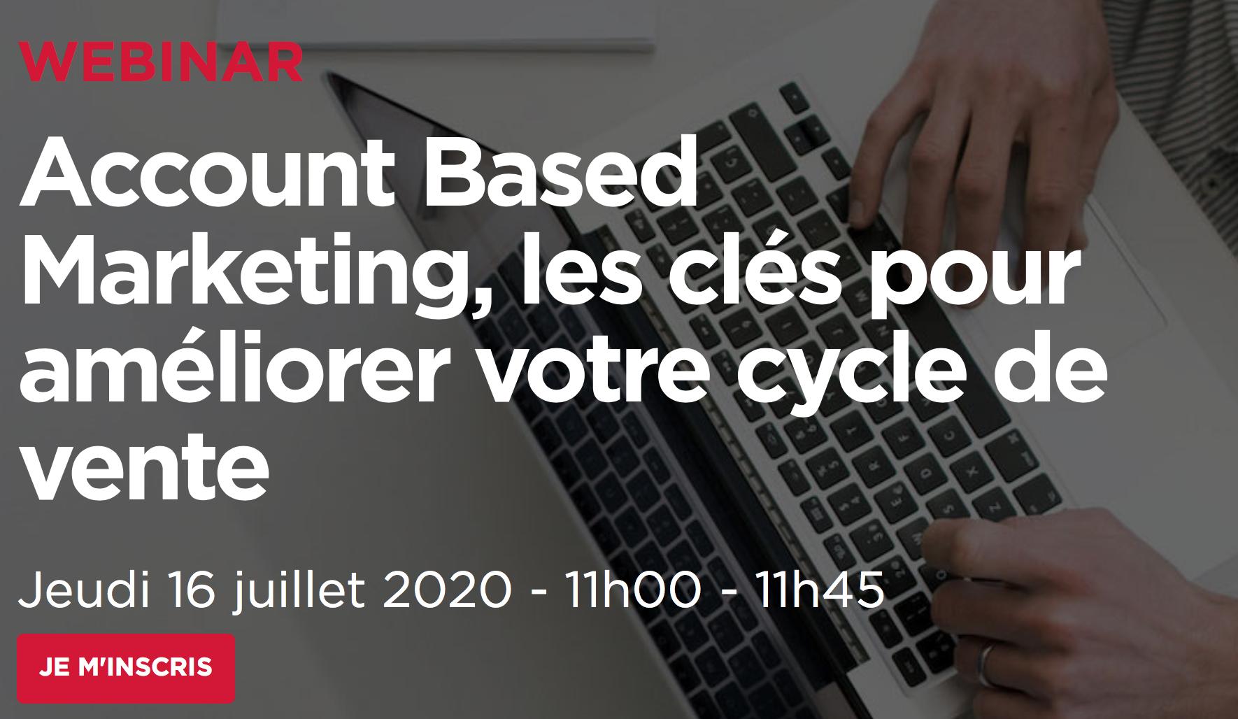 Évènement Webinar – Account Based Marketing, les clés pour améliorer votre cycle de vente Nomination