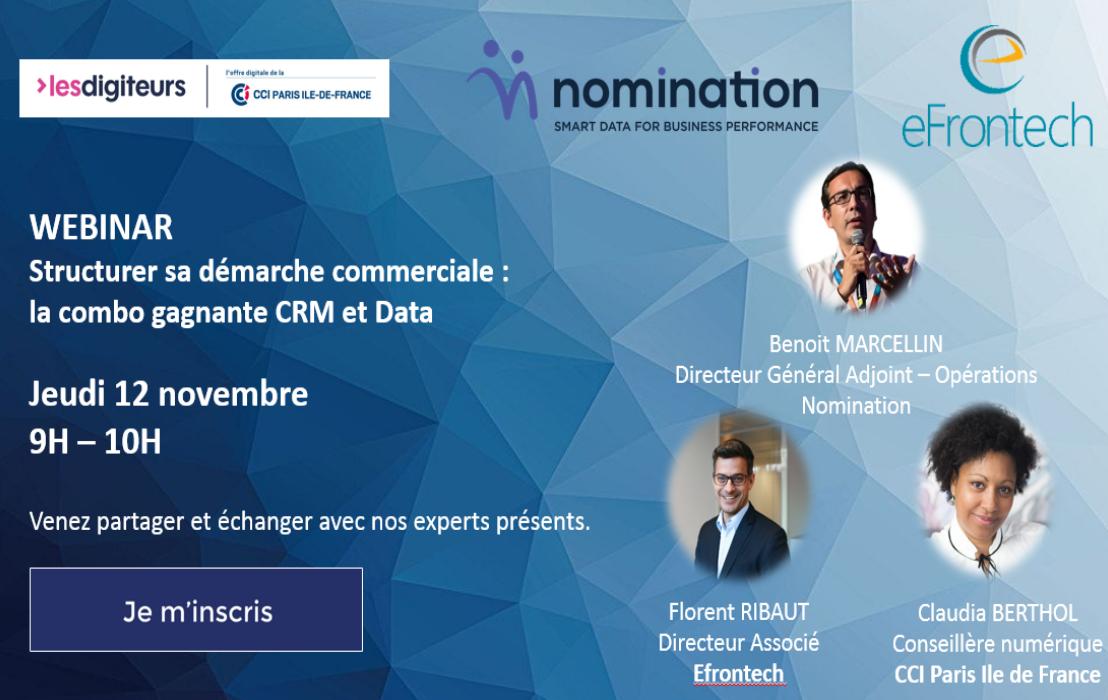 Évènement Replay – Structurer sa démarche commerciale : le combo gagnant CRM et Data Nomination