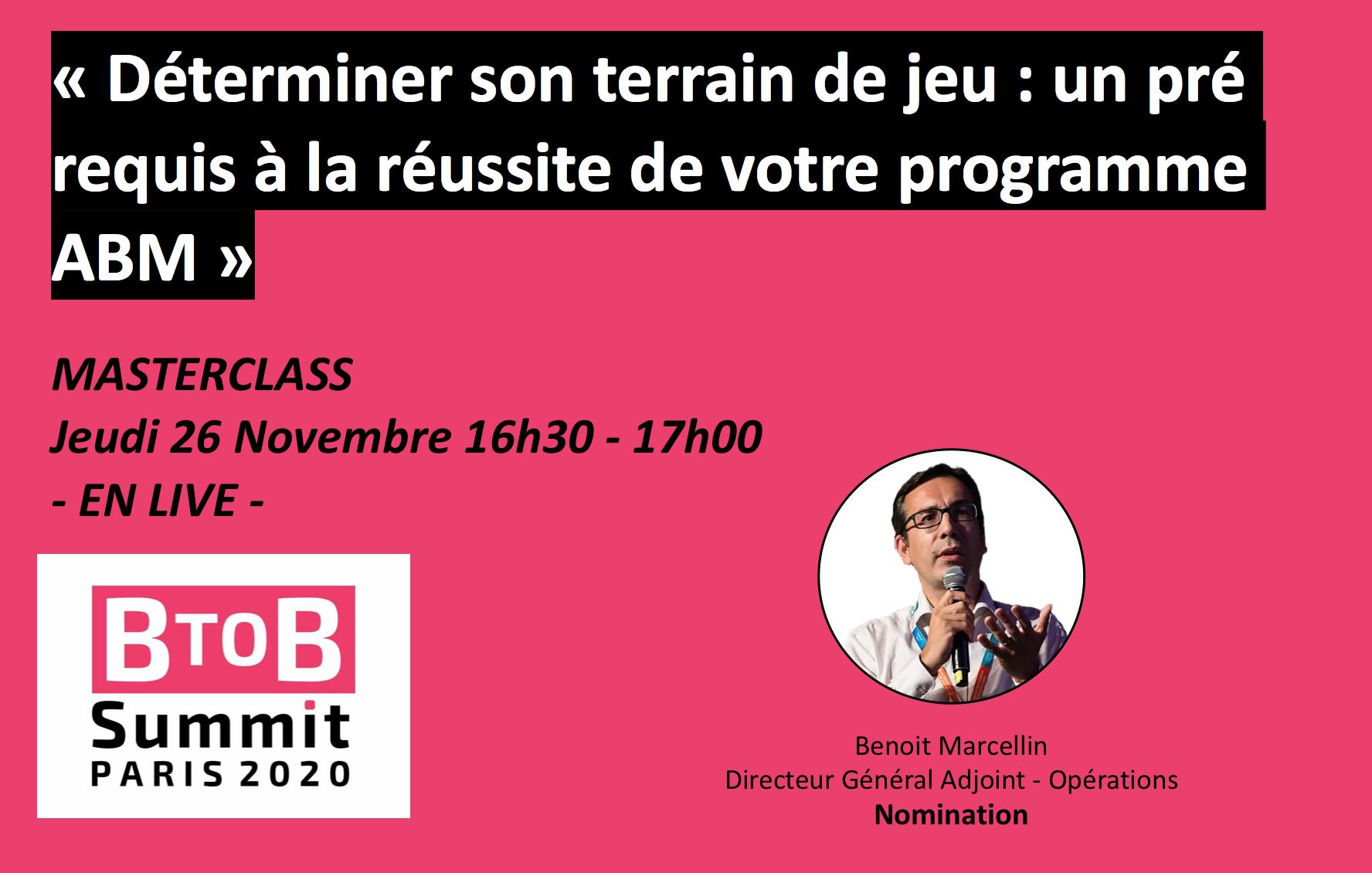 Évènement MasterClass ABM – BtoB Summit 2020 Nomination