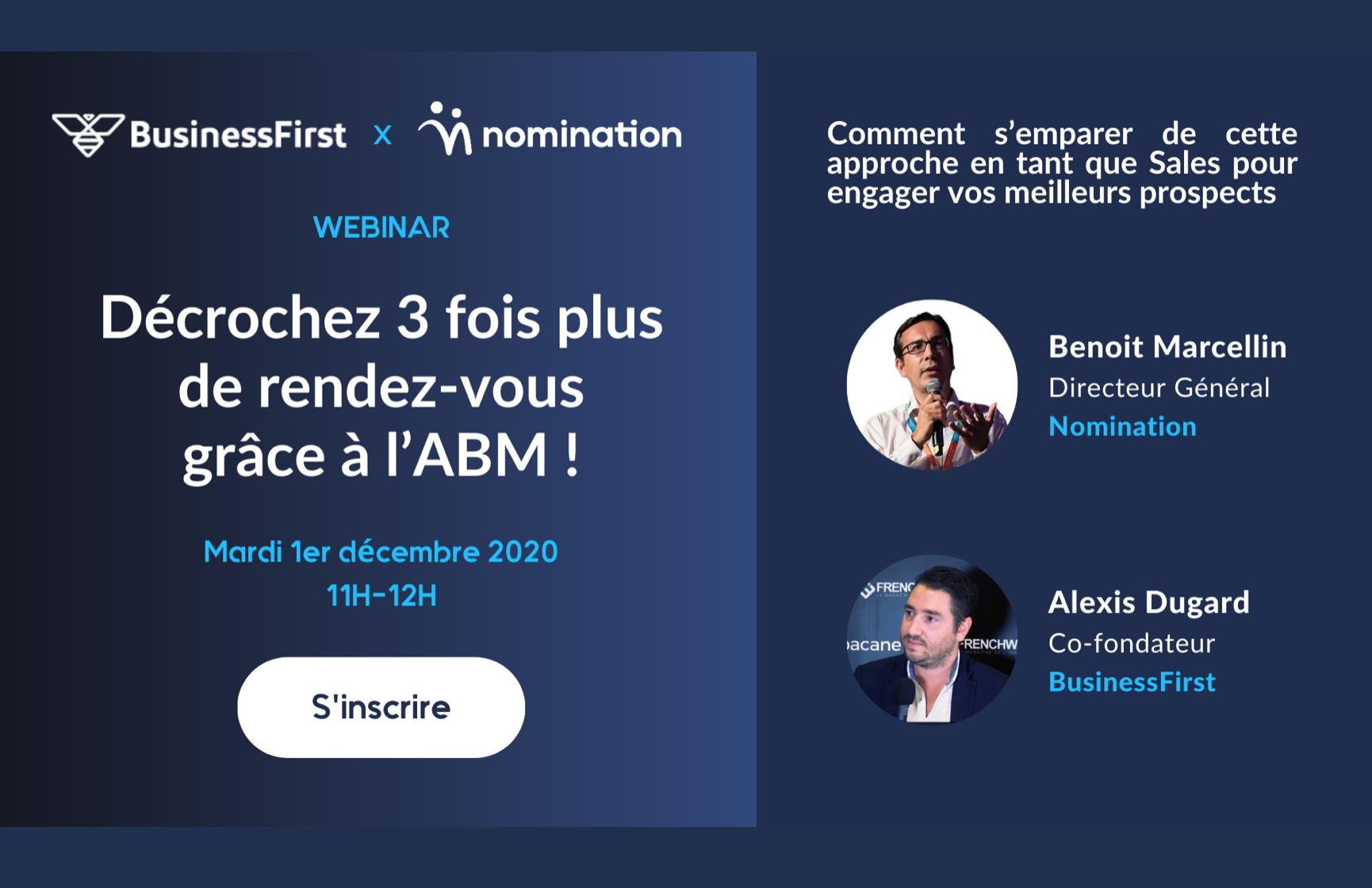 Évènement Décrochez 3 fois plus de rendez-vous grâce à l'ABM ! Nomination