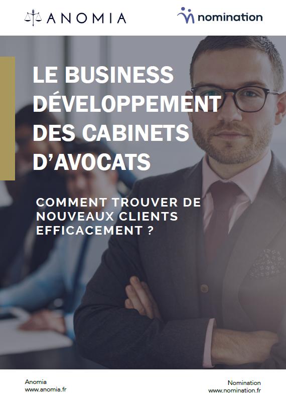Couverture du Livre Blanc Le business développement des cabinets d'avocats