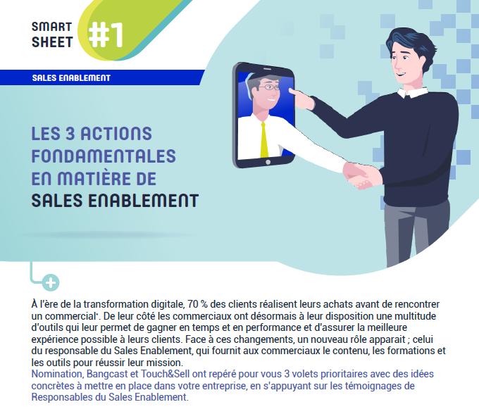 Couverture du Livre Blanc Les 3 actions fondamentales en matière de Sales Enablement