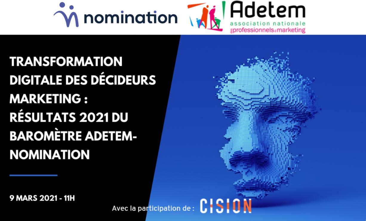 Évènement Replay – Transformation digitale des Décideurs Marketing 4e édition Nomination