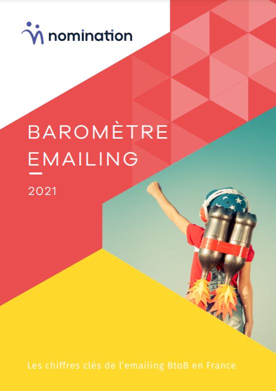 Couverture du Livre Blanc Baromètre emailing BtoB 2021