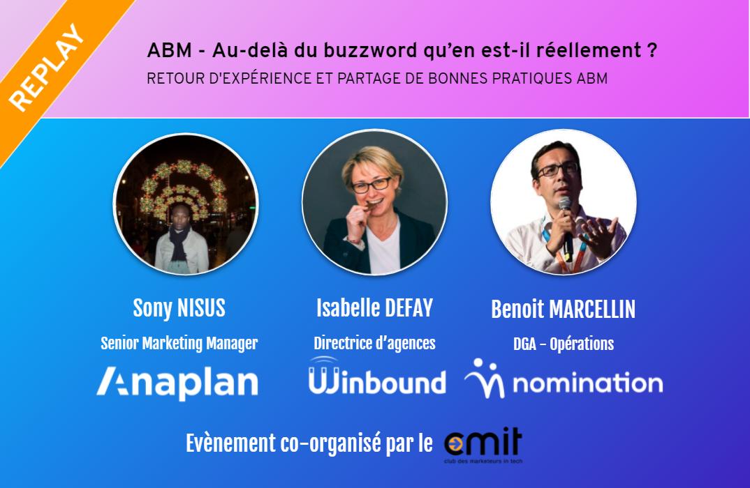 Évènement Replay – Retour d'expérience et partage de bonnes pratiques ABM Nomination
