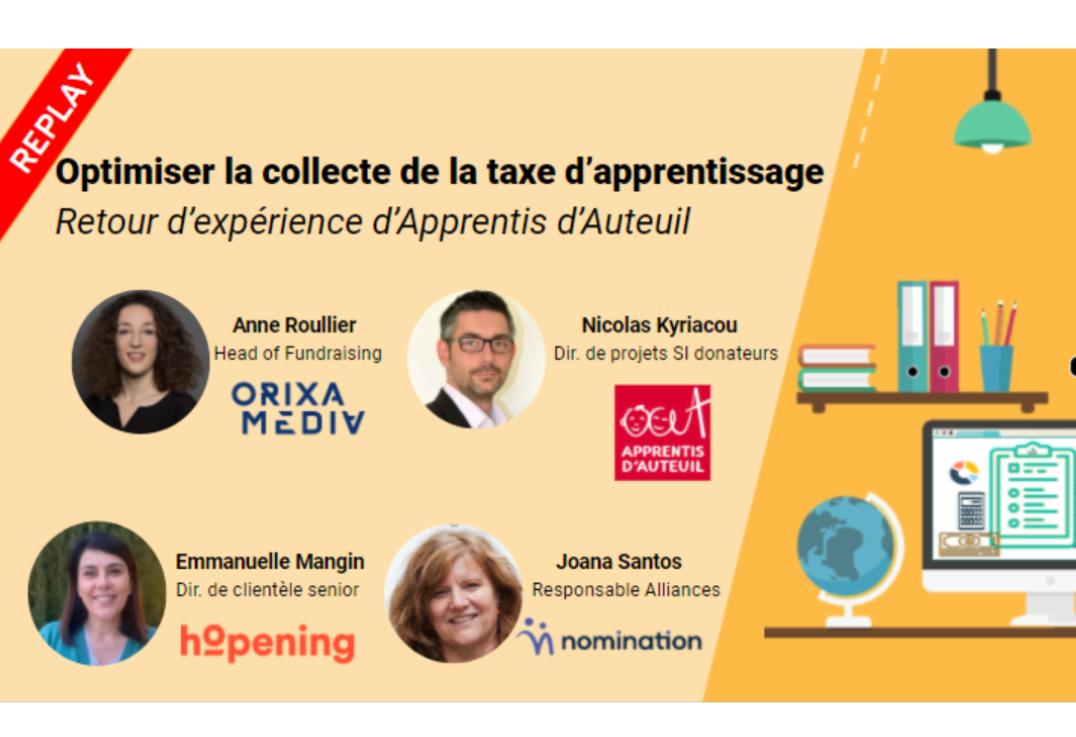 Évènement Replay – Optimiser la collecte de la taxe d'apprentissage Nomination