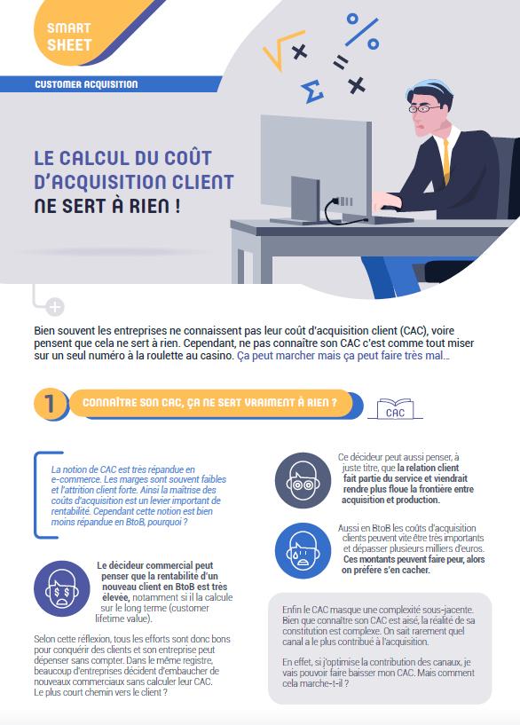 Couverture du Livre Blanc Customer acquisition : le calcul du coût d'acquisition client ne sert à rien !