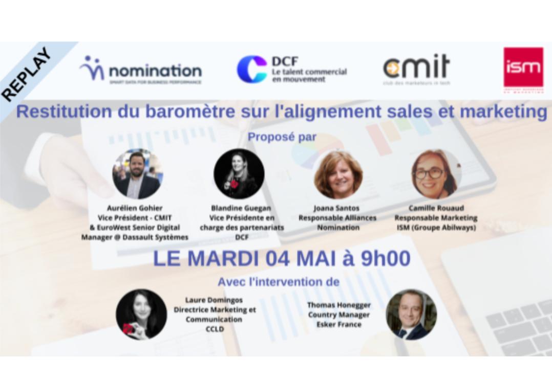 Évènement Replay – Restitution du baromètre Sales/Marketing Nomination