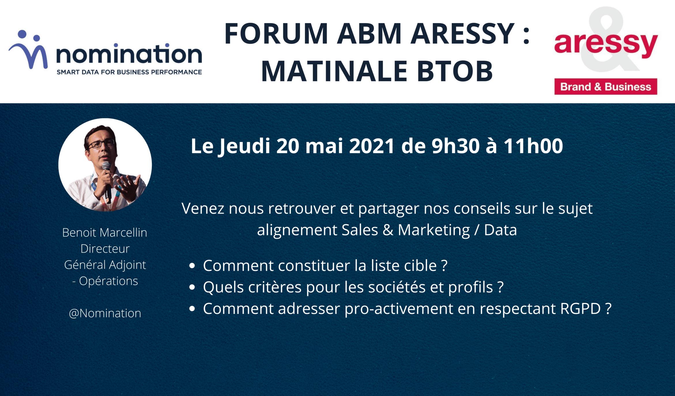 Évènement [20 Mai 2021] – Forum ABM Nomination