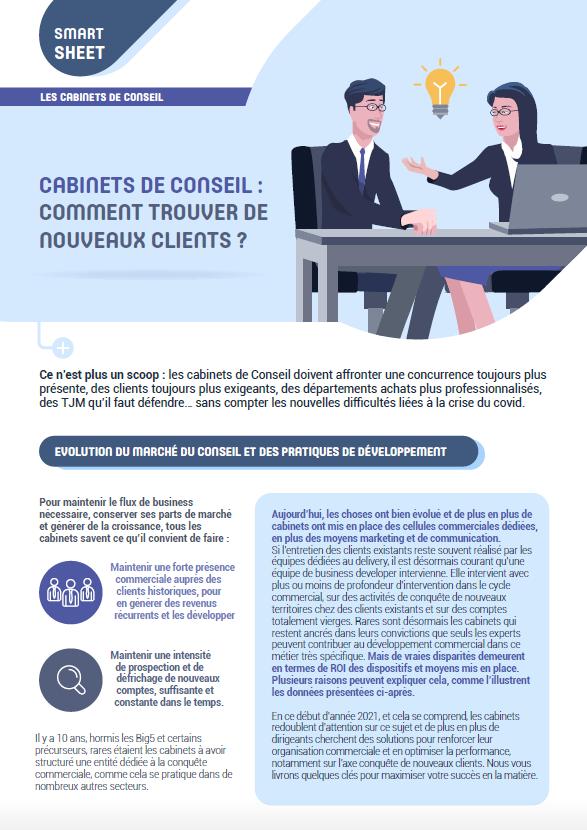 Couverture du Livre Blanc Cabinets de conseil : comment trouver de nouveaux clients ?