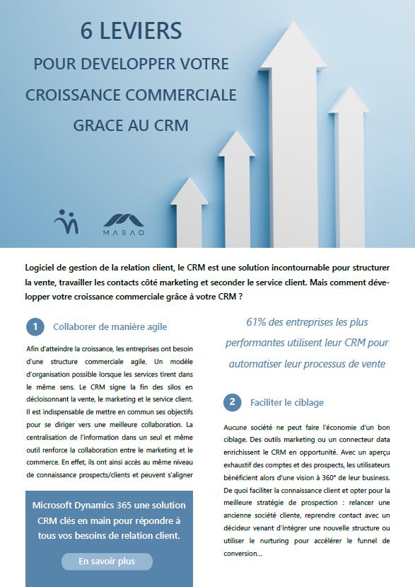 Couverture du Livre Blanc 6 leviers pour développer votre croissance commerciale grâce au CRM