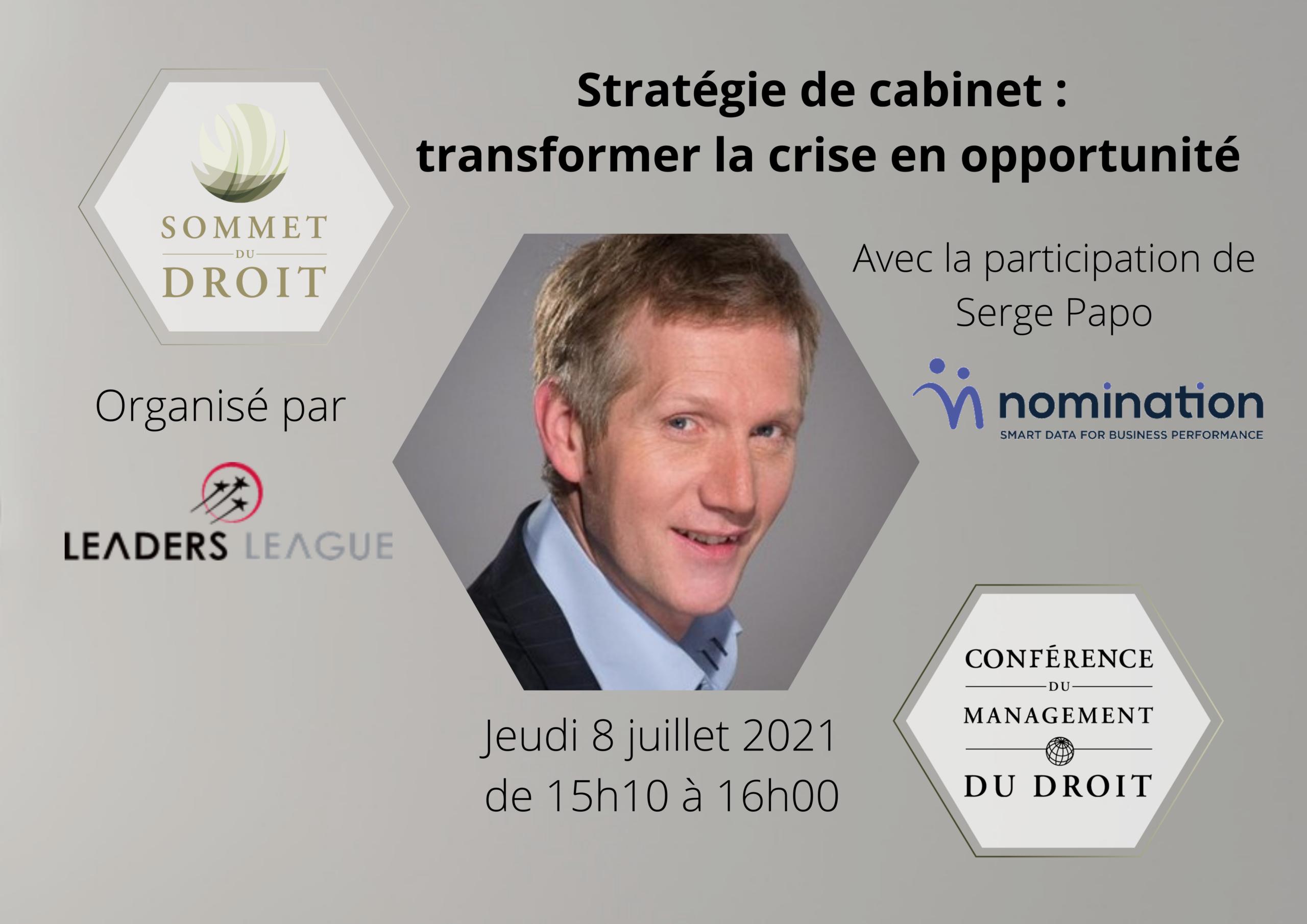 Évènement [8 juil 2021] Sommet du Droit Nomination