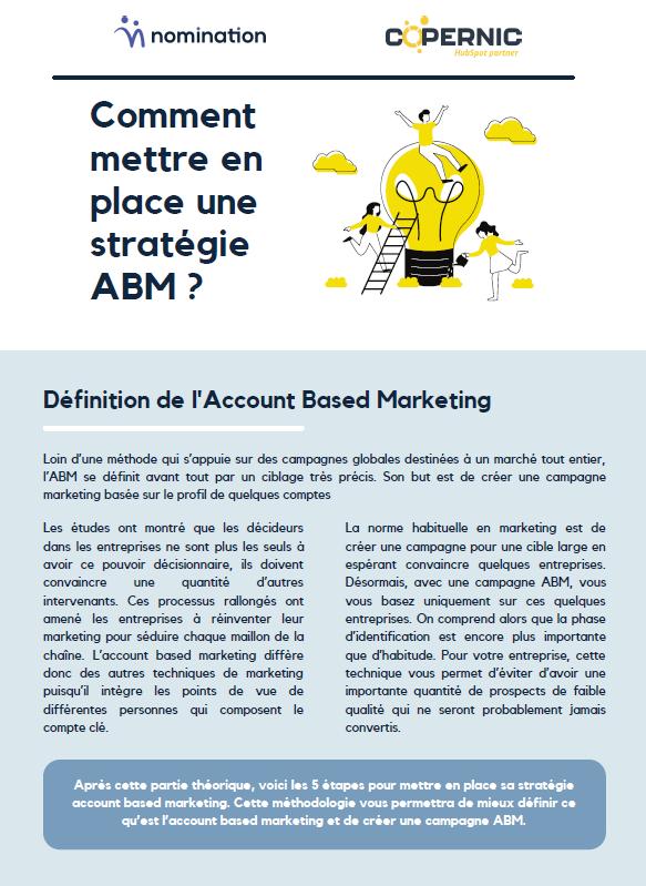 Couverture du Livre Blanc Comment mettre en place une stratégie ABM ?