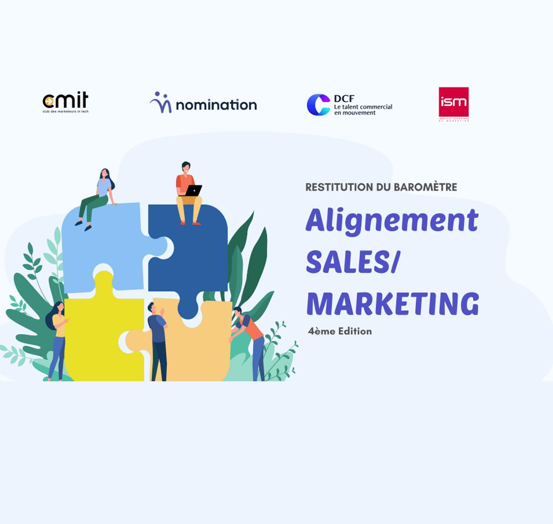 Couverture du Livre Blanc Baromètre alignement Sales/ Marketing