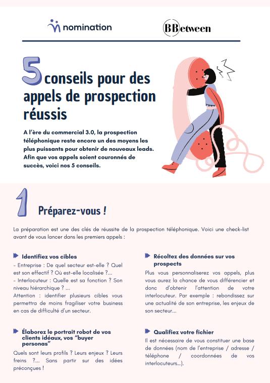 Couverture du Livre Blanc 5 conseils pour des appels de prospection réussis