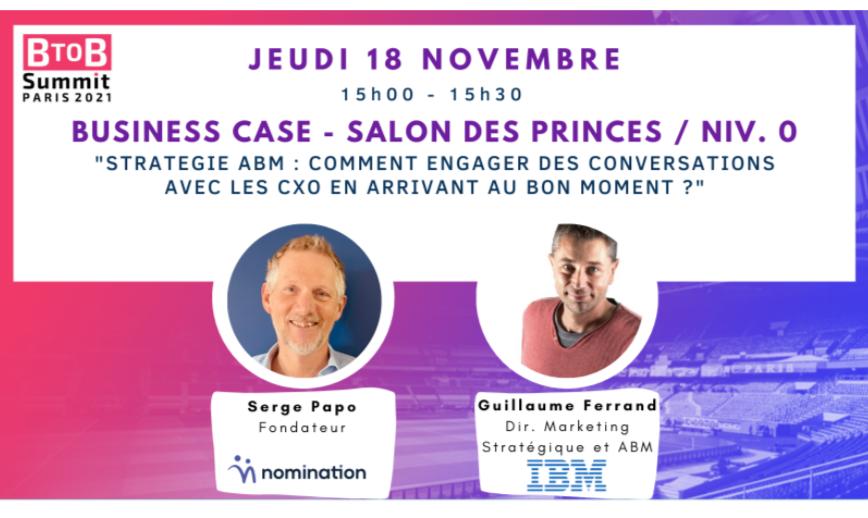 Évènement Business Case IBM – ABM : comment engager des conversations avec les CxO ? Nomination