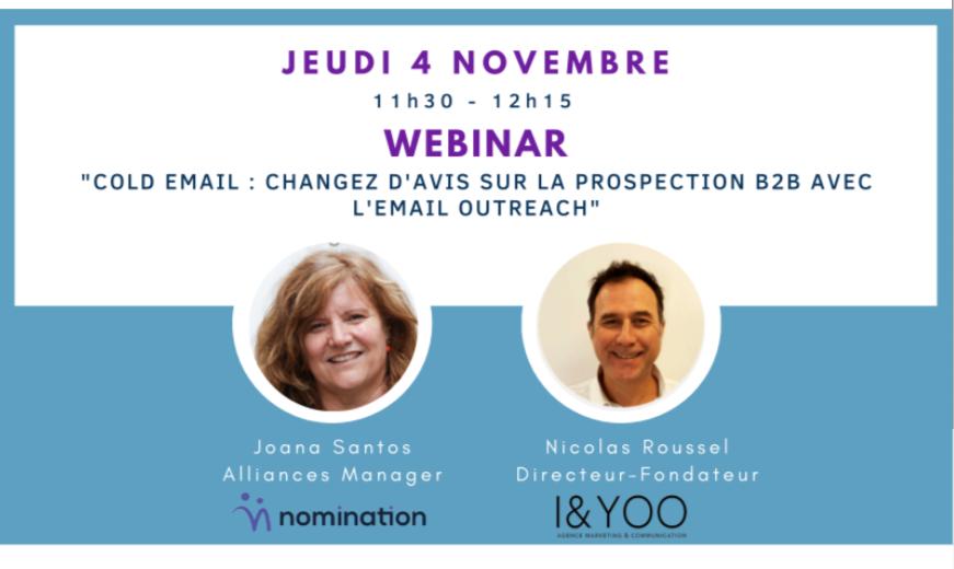 Évènement Cold email – changez d'avis sur l'email de prospection B2B Nomination